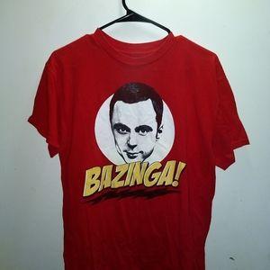 Shirts - BAZINGA - BIG BANG THEORY - Sheldon T-Shirt TV Tee
